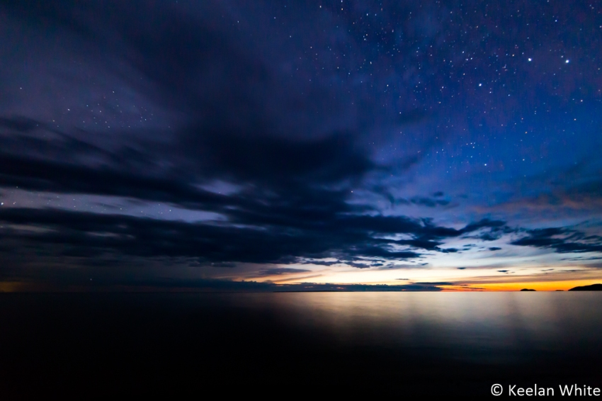 Sunset and Stars over L Superior