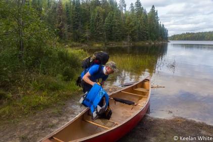Ryan Unloading the Canoe on the Portage into Elizabeth