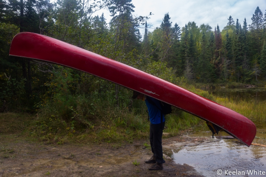 Ryan Portaging a Canoe for the First Time!