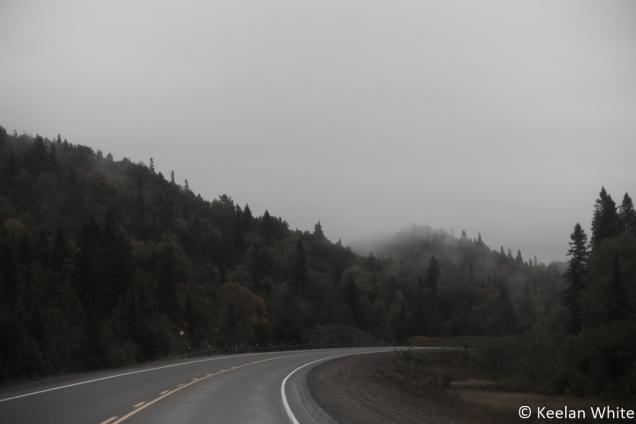 Misty Morning outside Thunder Bay